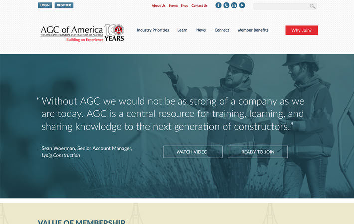 AGC Website Campaign Landing Page Screenshot