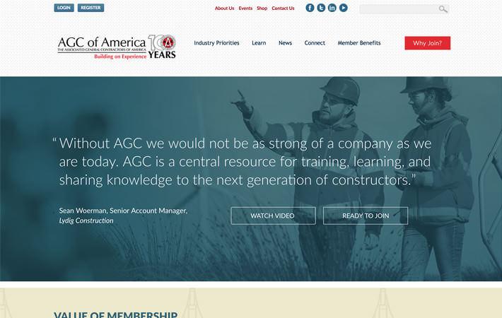 AGC Website Campaign Landing Page Screenshot