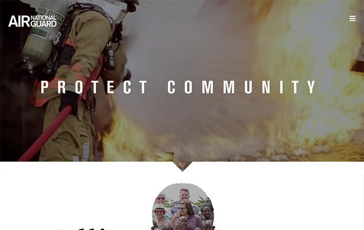 Air National Guard Website Homepage Screenshot