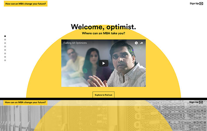 Calling All Optimists Website Homepage Screenshot