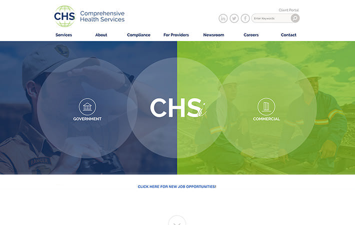 CHSi Medical Website Homepage Screenshot
