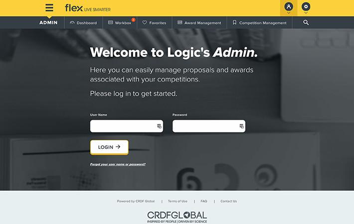 CRDF Website Login Screenshot