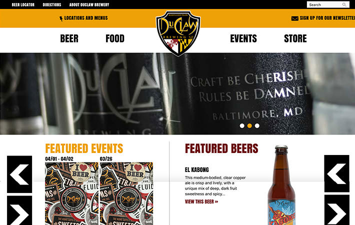 DuClaw Website Homepage Screenshot