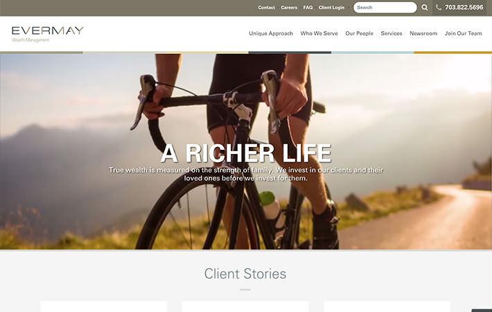 Evermay Wealth Management Website Homepage Screenshot