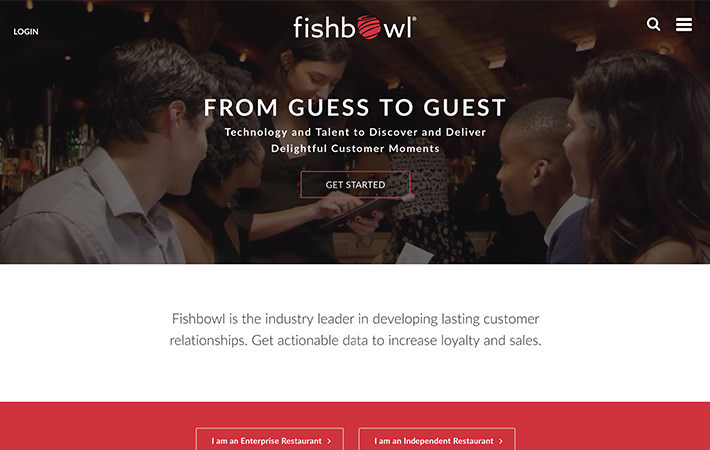Fishbowl Website Homepage Screenshot
