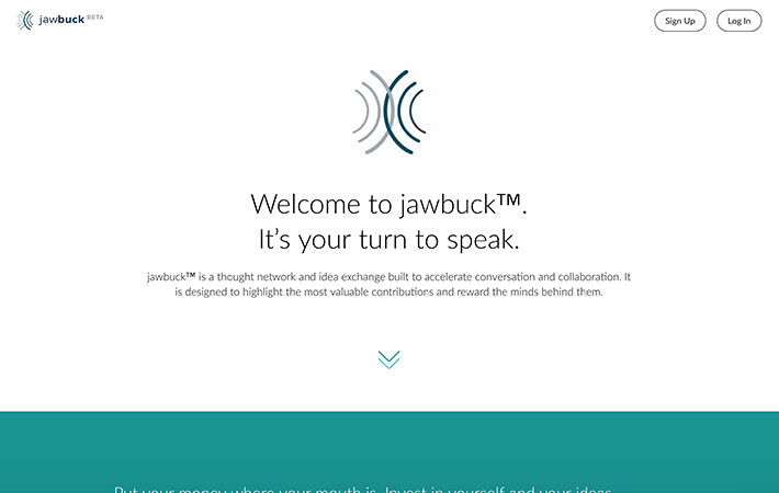 Jawbuck Website Homepage Screenshot