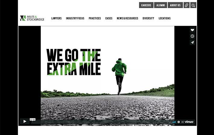 Miles & Stockbridge Lawyers Website Homepage Screenshot