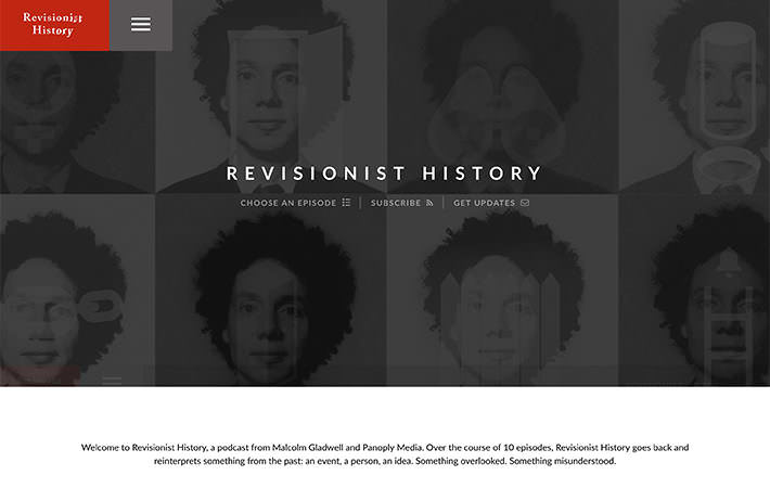 Revisionist History Season 1 Website Homepage Screenshot
