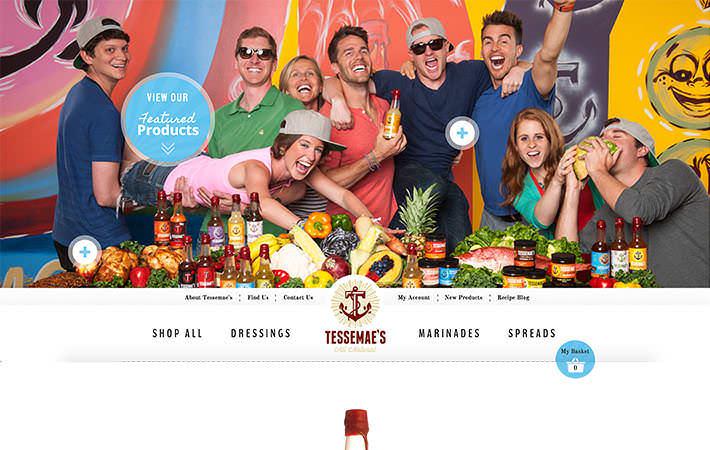 Tessemae's Website Homepage Screenshot